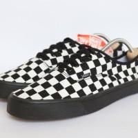 Sepatu Vans Checker Board Putih Sol Hitam Premium Quality