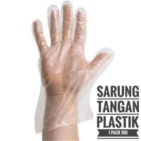 Sarung Tangan PLASTIK Food Grade Bagus Tebal Hand Gloves Disposable