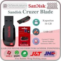 USB Flashdisk SANDISK CRUZER BLADE 16GB / CZ50 ORIGINAL RESMI 100%