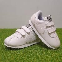 Sepatu Anak Kids Nike Cortez Nylon Classic Perekat SP007 Putih