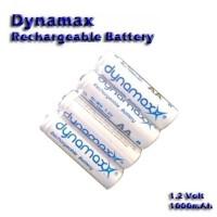 Baterai Dynamax AA Rechargeable Ni-MH 1000mAh Battery Batre Isi Ulang