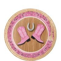 "Piring Kertas 7"" Tema Pink Bandana - Pesta Ulang Tahun"