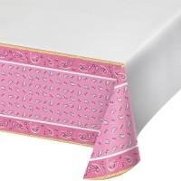 Taplak Meja Tema Pink Bandana - Perlengkapan Pesta Ulang Tahun