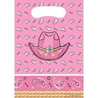 Pembungkus Souvenir Tema Pink Bandana - Perlengkapan Pesta Ulang Tahun