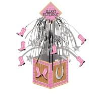 Centerpiece Tema Pink Bandana - perlengkapan pesta ulang tahun