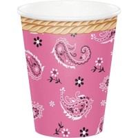 Gelas Kertas 9oz Tema Pink Bandana - Perlengkapan Pesta Ulang Tahun