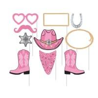 Photo Props Tema Pink Bandana - Perlengkapan Pesta Ulang Tahun