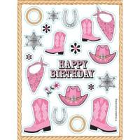 Sticker Tema Pink Bandana - Perlengkapan Pesta Ulang Tahun