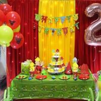 Set Perlengkapan Pesta Ulang Tahun Karakter Angry Birds