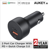 Aukey USB C 2 Ports 36W QC 3.0 Car Charger - 500371