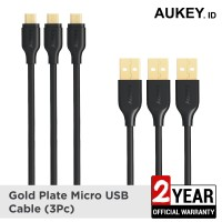 Aukey Cable Micro USB 2.0 Gold Plate (3Pcs) - 500090