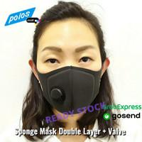 Masker Sponge Dengan Valve / Masker Sponge Double Layer + Valve