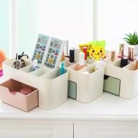 Rak Kosmetik Laci Plastik Stationary Storage Box Multifungsi