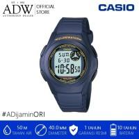 Jam Tangan Pria / CASIO BLUE RESIN DIGITAL LCD SPORTS WATCH F-200W-2B