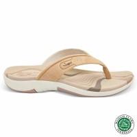 Homyped Ashley N31 Krem Sandal Flat Wanita