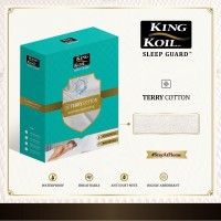 King Koil Mattress Protector Sleep Guard Terry Cotton