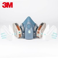 Set Masker Half Face piece Ori 3M 7502 Medium plus Reusable Respirator