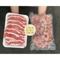 BUNDLING BEEF WAGYU SAIKORO 1kg + US SHORTPLATE BEEF SLICE 1kg