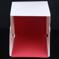 SMALL Size Photo Studio Box Mini KANCING Lampu LED - 4 Background