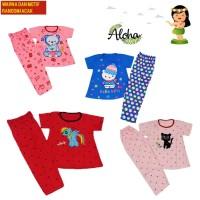 Stelan Baju Tidur Lengan Pendek 2-6 Tahun PP NK MOTIF dan WARNA RANDOM