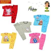 Baju Tidur Anak Perempuan 7-12 Thn Lengan Pendek MOTIF WARNA RANDOM DK
