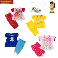 Baju Stelan Anak Perempuan Celana 3/4 MOTIF dan WARNA RANDOM NK