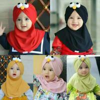 Jilbab Anak Elmo / Kerudung bayi Murah/ Alody's Collection