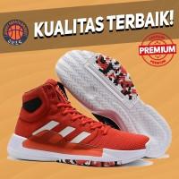 Sepatu Basket Sneakers Adidas Pro Bounce 2019 Red White Pria Wanita