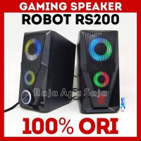 Speaker Robot RS200 Spiker Speker Gaming E-Sport Esport LED RGB Aktif