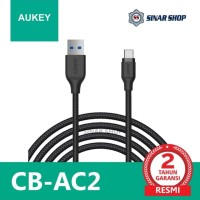 Aukey CB-AC2 Braided Nylon USB 3.1 To USB-C Charger & Sync Cable 2M
