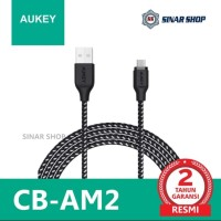Aukey CB-AM2 High Performance Nylon Micro-USB Cable 2M