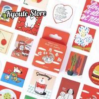 Sticker Aesthetic Red Love Dekorasi Scrapbook DIY Bujo Planner Journal