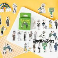 Sticker Korean Girl Mini Cartoon Scrapbook DIY Bujo Planner Journal HP