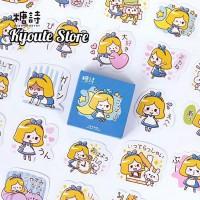 Sticker Dekorasi Alice Wonderland Princess Scrapbook DIY Bujo Planner
