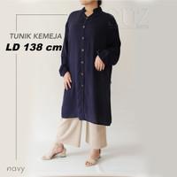 Kemeja wanita Baju Atasan Tunik Jumbo Big Size 6L LD 138cm