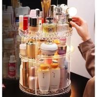 Rak Kosmetik Putar 360 Derajat diamod Acrylic - Tempat Makeup Akrilik