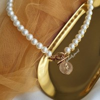 Kalung mutiara Choker / Coin Pearl Choker Necklaces