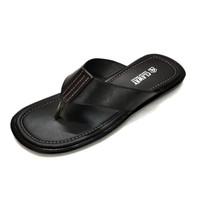 Sandal Pria Ukuran Besar Bahan Kulit Asli Sandal Flat pria Big size