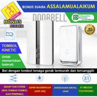 Bel Rumah Wireless Door Bell Waterproof Pintu