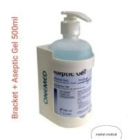 Hand sAsanitizer 500ml + Bracket Aseptic Gel + pump aseptic Gel oneme