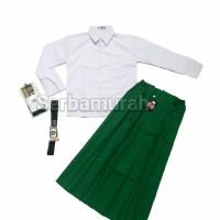 setelan seragam sekolah MI baju panjang rok panjang