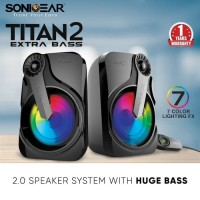 Sonic Gear Titan 2 Speaker System With Huge Bass And 7 Color Lighting