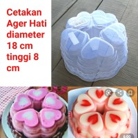 cetakan ager hati puding jelly love valentine