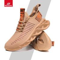 Redzeal Sepatu Sneakers Pria Air Force Roar Keren Import - Putih, 40