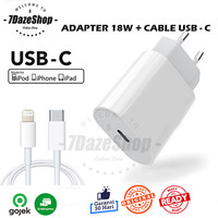 Adaptor Charger Iphone 18W USB C + Kabel Iphone 11 Pro Max Original - 1 Set Ip 11