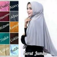 Jilbab instan SERUT JUMBO / serut polos Jokowi jumbo Jersey