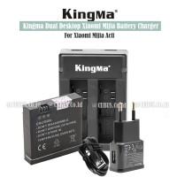 KINGMA Kit Set Baterai Wiht Desktop Dual Charger For Mijia Action Cam