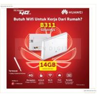 Home Router WIFI 4G Huawei B311 Unlock + Antena Indoor + Tsel 14GB