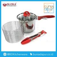 Bursa Dapur Supra Stainless Steel Penggorengan / Deep Fryer 20 cm - Merah