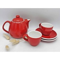 Parcel Agung Keramik Tea Set Modern Ultah Anniversary Natal Lebaran